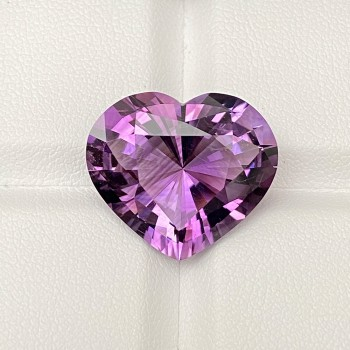 PRECISION PURPLE AMETHYST HEART