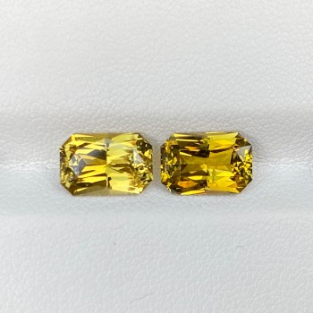 OLIVE GREEN CHRYSOBERYL PAIR