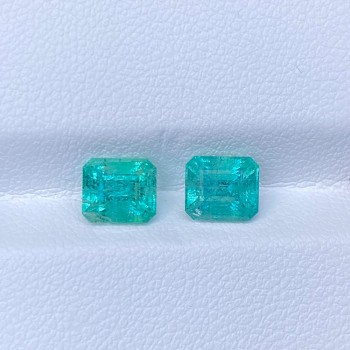 COLOMBIA EMERALD PAIR