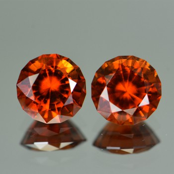 ORANGE GARNET 7.65CTS  PAIR GRH436