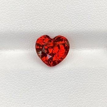 ORANGE SPESSARTINE GARNET HEART
