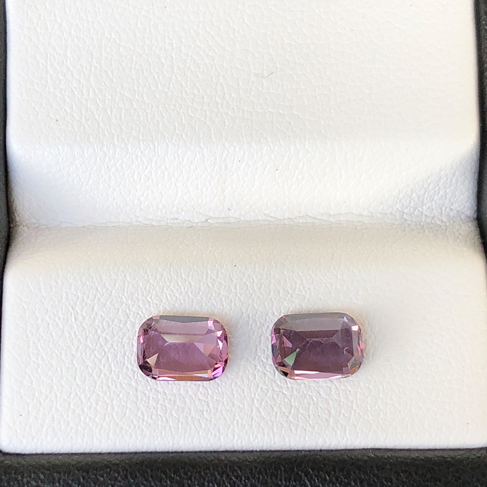 PAIR PINK SPINEL 1.85