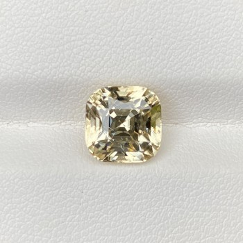 PALE YELLOW ZIRCON SQUARE CUSHION